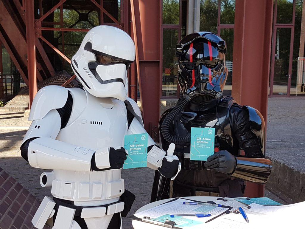 Stormtrooper rufen auf zur Zwischenzählung!