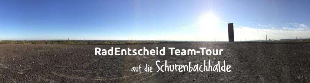 Team-Tour zur Schurenbachhalde & Sammeln im Norden am 12. Juli 2020