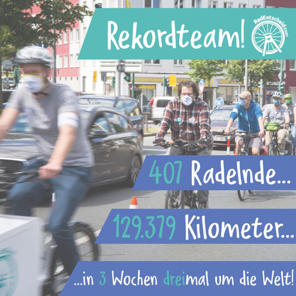Stadtradeln: Rekord zum RadEntscheid gelungen – 407 Teilnehmer*innen mit 129.379 Kilometern! Dreimal um die Erde in 3 Wochen!
